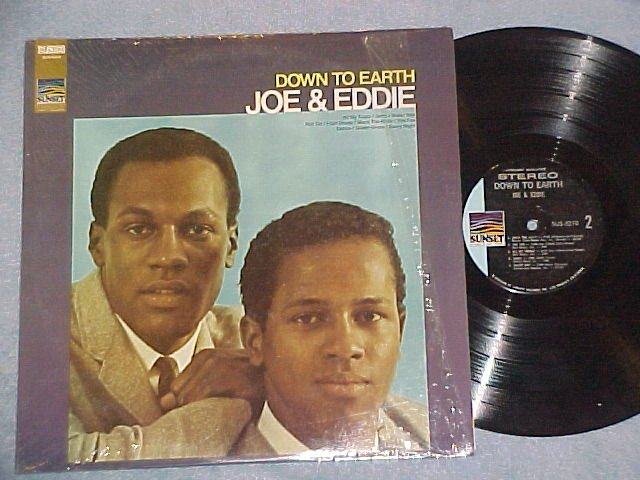 JOE AND EDDIE--DOWN TO EARTH--VG++/NM in shrink 1970 LP