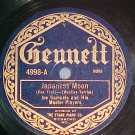 78-JOE SAMUELS--JAPANESE MOON--1922--Gennett 4998--VG++