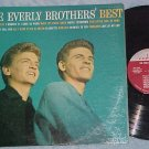 EVERLY BROTHERS' BEST-1959 LP-Metronome label, Blue jkt