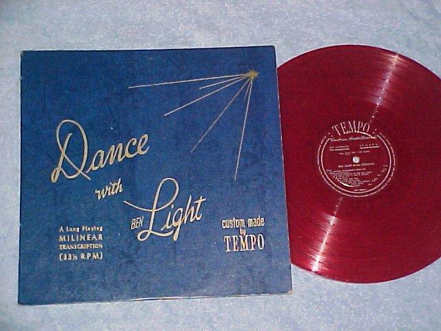BEN LIGHT AT THE STEINWAY--Tempo MTT-2002--Red Vinyl LP
