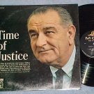 LYNDON B. JOHNSON-TIME OF JUSTICE--NM in shrink 1965 LP