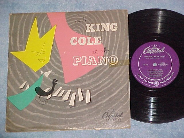 """(NAT) KING COLE AT THE PIANO-10"""" 1950 LP--Capitol H-156"""