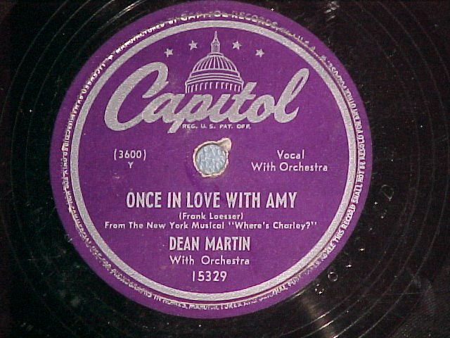 78-DEAN MARTIN-ONCE IN LOVE WITH AMY-1949-Capitol 15329