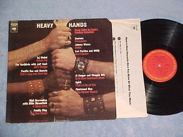 HEAVY HANDS-GREAT SOLOS BY ROCK'S LEADING GUITARISTS-LP