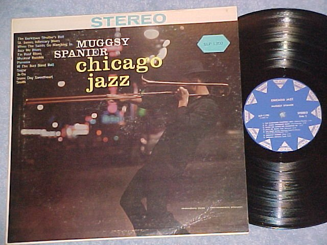 MUGGSY SPANIER--CHICAGO JAZZ--NM/VG+ Stereo RKO LP