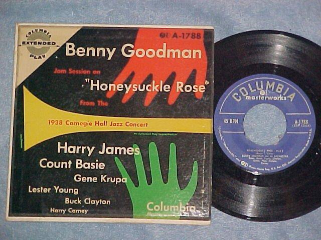 EP w/PS--BENNY GOODMAN GROUP--HONEYSUCKLE ROSE--NM/VG+