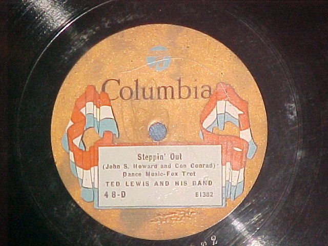 78-TED LEWIS-STEPPIN OUT-1923-Columbia 48-D--banner lbl