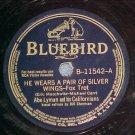 78-ABE LYMAN--HE WEARS A PAIR OF SILVER WINGS--Bluebird