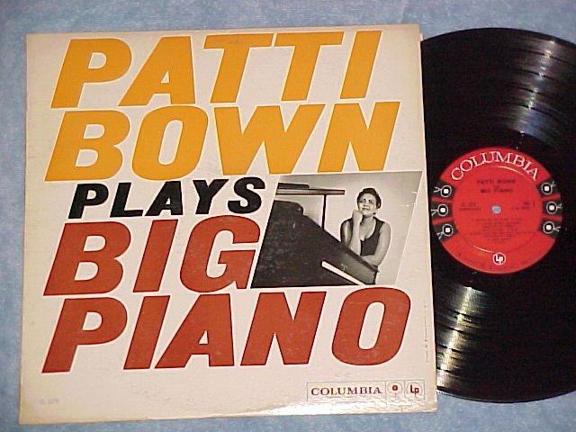 PATTI BOWN PLAYS BIG PIANO--VG++/VG+ Mono 1959 Promo LP