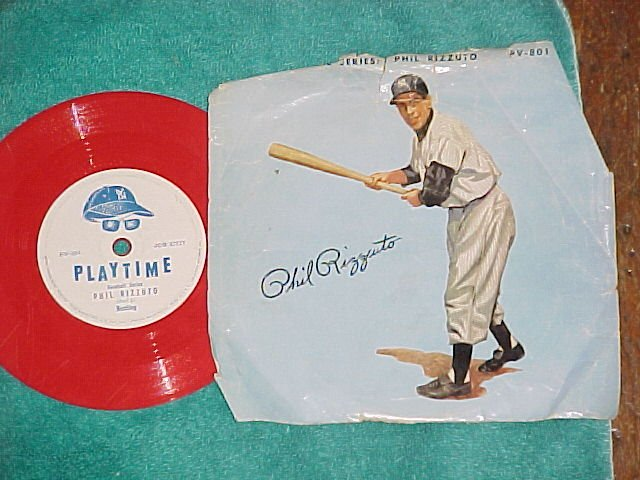 """6"""" Red 78 w/PS--PLAYTIME--PHIL RIZZUTO--Columbia PV-801"""