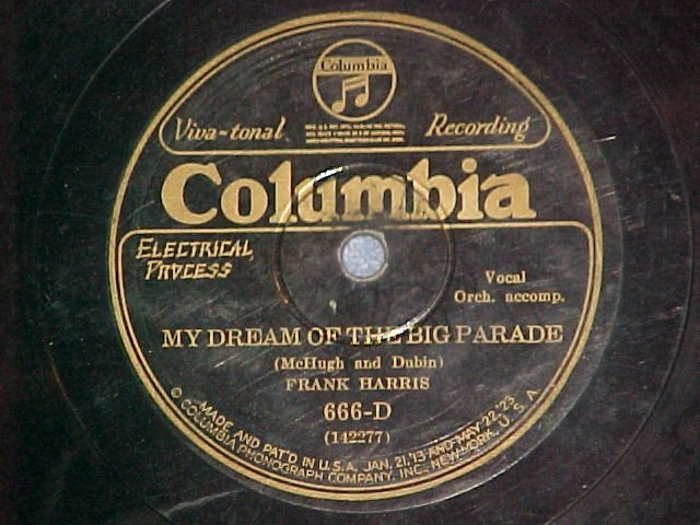 78-FRANK HARRIS--MY DREAM OF THE BIG PARADE--Col. 666-D