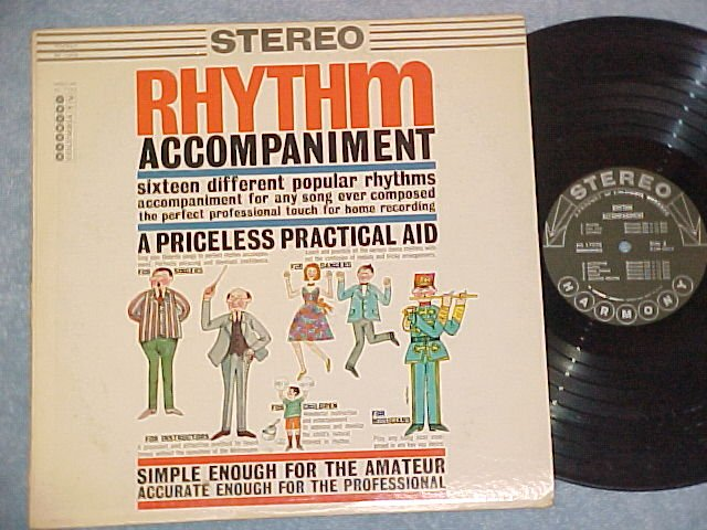RHYTHM ACCOMPANIMENT-Stereo'60 Music Instruction Aid LP