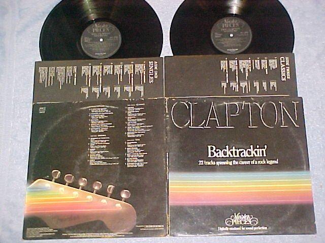 ERIC CLAPTON-BACKTRACKIN'-NM/VG+ '84 UK Dbl LP-22 Songs