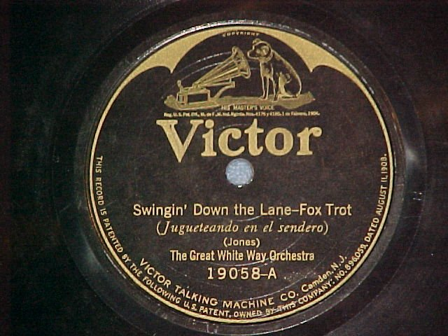 78-GREAT WHITE WAY ORCHESTRA-SWINGIN DOWN THE LANE-1923