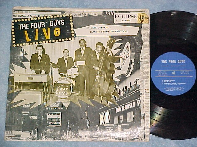 THE FOUR GUYS--LIVE--VG+ '60's LP--Eclipse AU-4532
