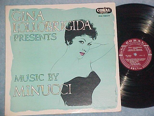 GINA LOLLOBRIGIDA PRESENTS MUSIC BY (Ulpio) MINUCCI--LP