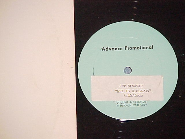 "PAT BENATAR-SEX IS A WEAPON-1sided Advance Promo 12""(as"