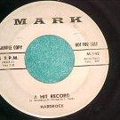 45-HARDROCK--A HIT RECORD-Mark 142--Utica, NY--WL Promo