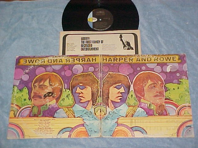 HARPER AND ROWE--Self Titled VG+ 1968 LP--World Pacific