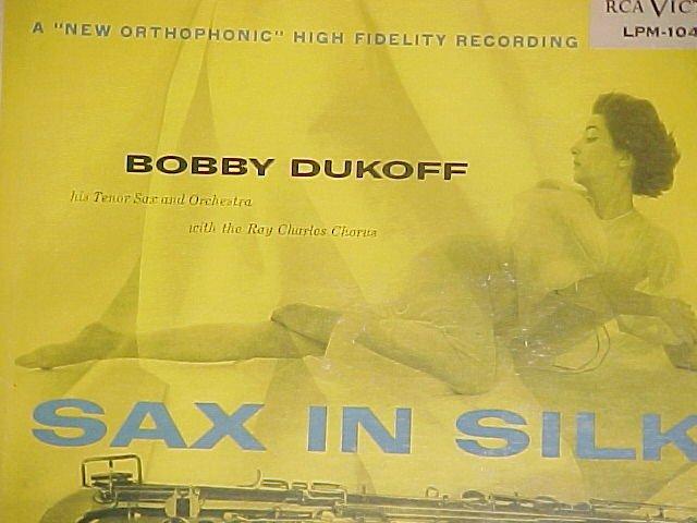 BOBBY DUKOFF--SAX IN SILK--VG+ 1957 RCA LP ~Cheesecake~