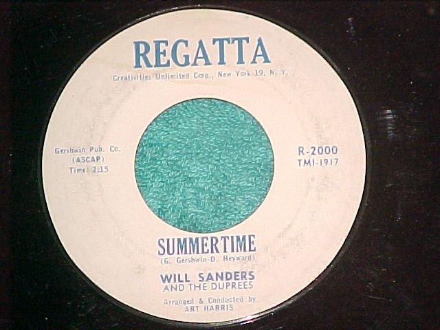 45--WILL SANDERS--SUMMERTIME/I'M MOVIN IN--Regatta 2000