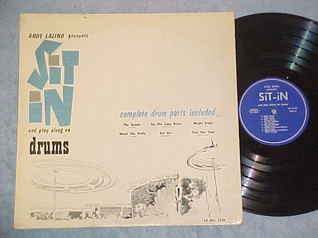 ANDY LALINO--SIT IN (AND PLAY ALONG ON DRUMS)-NM/VG+ LP