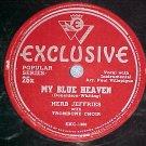 78-HERB JEFFRIES-MY BLUE HEAVEN-1946-Exclusive 26x--VG+