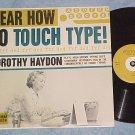 HEAR HOW TO TOUCH TYPE!--NM/VG+ Mono 1960 Carlton LP