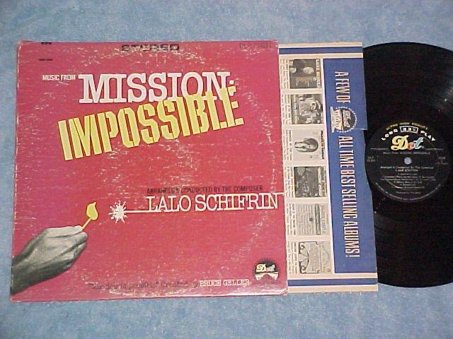 MISSION IMPOSSIBLE--VG+/VG Stereo 1967 TV Sdk LP on Dot