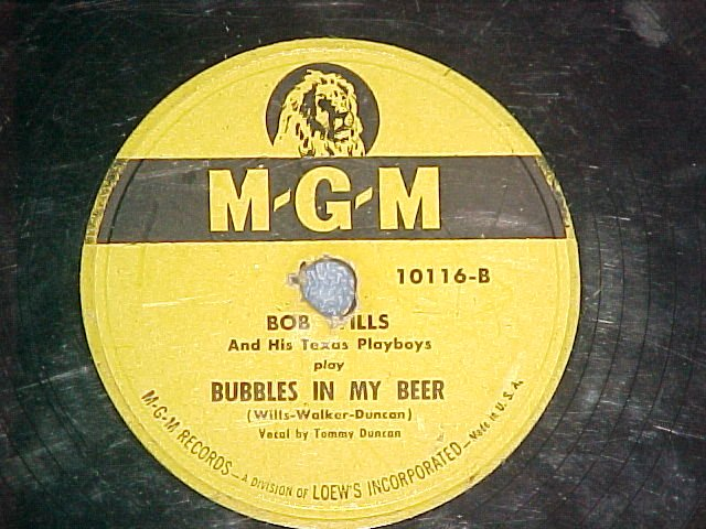 78--BOB WILLS--SPANISH FANDANGO/BUBBLES IN MY BEER--MGM