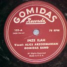 Turkish 78--GOMIDAS BAND--INZE ILAH--Gomidas 105