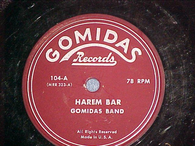Turkish 78--GOMIDAS BAND--HAREM BAR--Gomidas 104