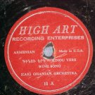 Armenian 78-HAIG OHANIAN ORCHESTRA-High Art(Highart) 10