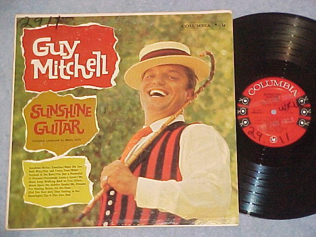 GUY MITCHELL--SUNSHINE GUITAR--NM/VG+ 1960 Promo LP