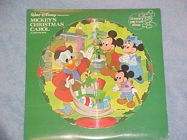MICKEY'S CHRISTMAS CAROL--1982 Picture Disc LP--Disney