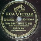 78--CLIFF CARLISLE--WHY DID IT HAVE TO BE?--RCA Victor