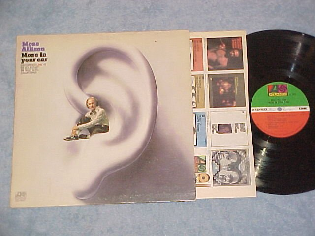MOSE ALLISON--MOSE IN YOUR EAR--NM/VG+ 1972 LP-Atlantic