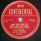 78-VICTOR ZEMBRUSKI-WHO TOLD YOU SO?--Continental C-771