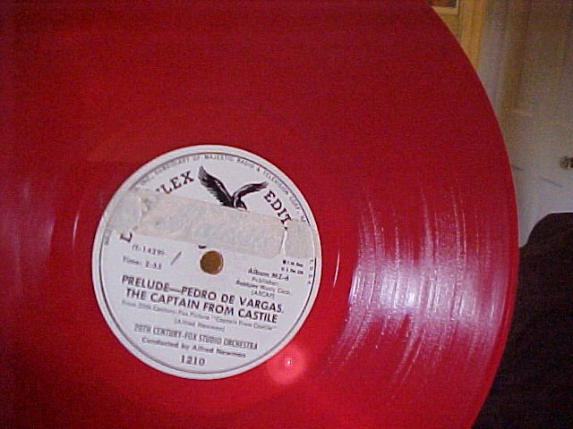 Red Vinyl 78-20th CENTURY-FOX ORCH-CAPTAIN FROM CASTILE