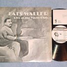 FATS WALLER LIVE AT THE YACHT CLUB-NM 1983 LP--GOJ-1029