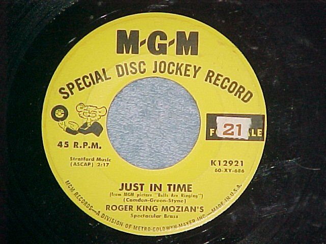 Promo 45-ROGER KING MOZIAN-JUST IN TIME-1960-MGM K12921