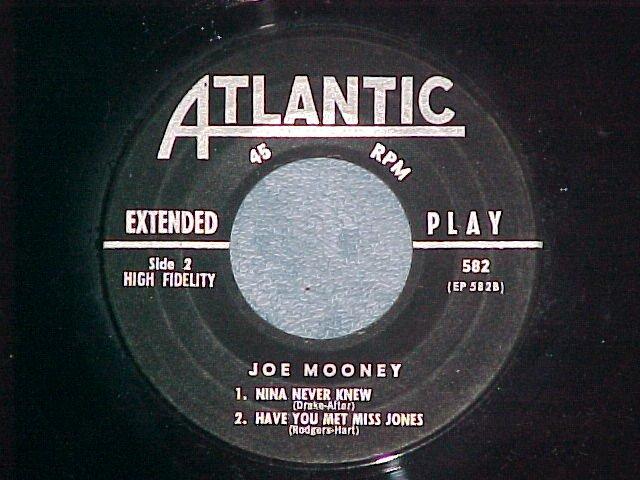 EP--JOE MOONEY (QRTT)-LUSH LIFE--1956--Atlantic 582--NM