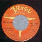 45--RICKY NELSON--I'M WALKIN'-1957--Verve--Orange label
