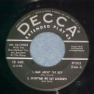 EP--JERI SOUTHERN--s/t--Decca ED-640/91253--'50's--VG+