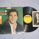 GEORGE MAHARIS SINGS!--VG+ Stereo 1962 LP w/Bonus Photo