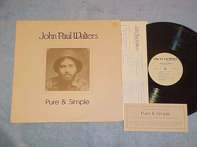 JOHN PAUL WALTERS--PURE AND SIMPLE--LP-Autograph,Insert