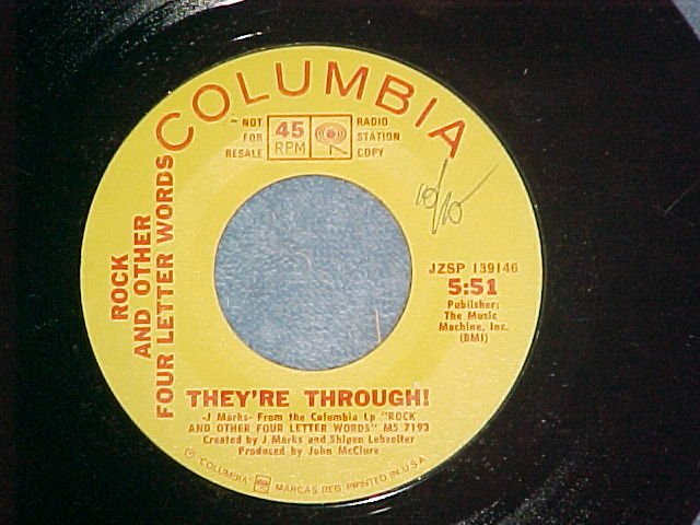 Promo 45-ROCK AND OTHER FOUR LETTER WORDS-1968-Columbia