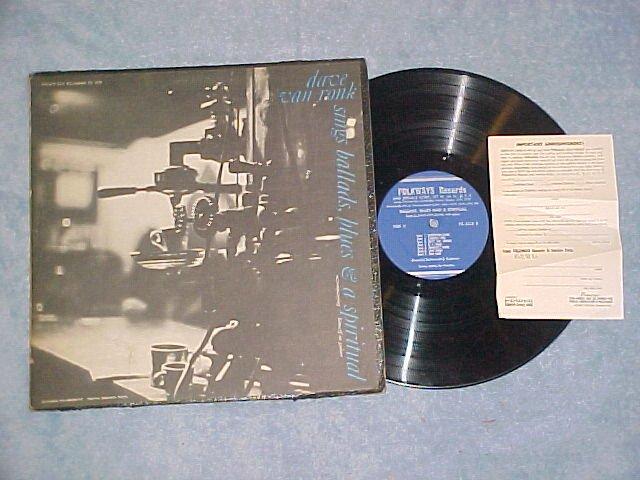 DAVE VAN RONK SINGS BALLADS, BLUES AND A SPIRITUAL--LP