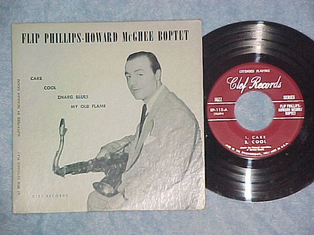 EP w/PS-FLIP PHILLIPS-HOWARD McGHEE BOPTET-Clef-NM/VG++