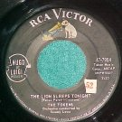 45-THE TOKENS--THE LION SLEEPS TONIGHT--1961--RCA--VG++